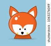 vector image of a fox design on ... | Shutterstock .eps vector #1063276049