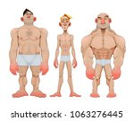three types of caricatural male ... | Shutterstock .eps vector #1063276445