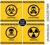 Set Of Grunge Danger Banners...