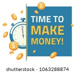 time to make money  ... | Shutterstock .eps vector #1063288874