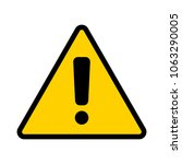 warning sign. attention icon.... | Shutterstock .eps vector #1063290005