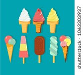 the colorful icon set of ice... | Shutterstock .eps vector #1063303937