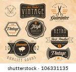 vintage prints | Shutterstock .eps vector #106331135