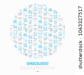 gynecologist concept in circle... | Shutterstock .eps vector #1063327517