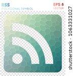 rss alt polygonal symbol ... | Shutterstock .eps vector #1063331027