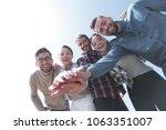 college students teamwork... | Shutterstock . vector #1063351007