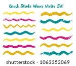 vintage brush stroke waves... | Shutterstock .eps vector #1063352069