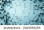 abstract numbers random motion... | Shutterstock . vector #1063356254