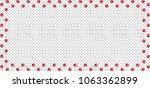 rectangle frame made of red... | Shutterstock .eps vector #1063362899