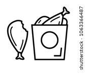 chicken food icon vector   Shutterstock .eps vector #1063366487