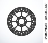 vector motorcycle brake disc... | Shutterstock .eps vector #1063368539