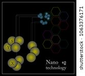 nano technology logotype vector ... | Shutterstock .eps vector #1063376171