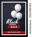 black friday sale flyer... | Shutterstock .eps vector #1063386185