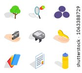 revival icons set. isometric... | Shutterstock .eps vector #1063388729