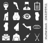 plastic surgeon icons set...   Shutterstock .eps vector #1063395911