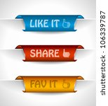 3 paper stickers tag for...   Shutterstock .eps vector #106339787