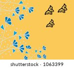blue fauna on gold with... | Shutterstock . vector #1063399