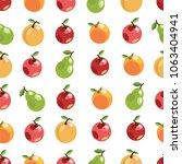 apples pears oranges. seamless... | Shutterstock .eps vector #1063404941