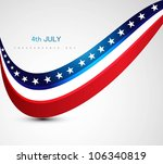 american flag 4th july american ... | Shutterstock .eps vector #106340819