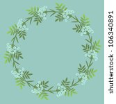 floral decorative wreath with... | Shutterstock .eps vector #106340891