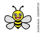 vector symbol honey bee smile...   Shutterstock .eps vector #1063409714
