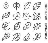 leaf icon set | Shutterstock .eps vector #1063410281