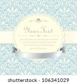 Blue Vintage Label Vector Frame