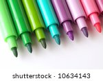 colored markers | Shutterstock . vector #10634143