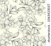 vector vintage botanical... | Shutterstock .eps vector #1063423037