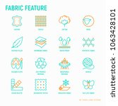 fabric feature thin line icons... | Shutterstock .eps vector #1063428101