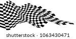 checkered wave flying black... | Shutterstock .eps vector #1063430471