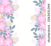 flowers backgrounds  vector | Shutterstock .eps vector #1063431344