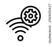 wifi setting vector icon