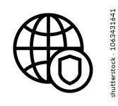 global security  vector icon