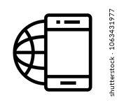 globe phone  vector icon