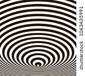 optical illusion  black and... | Shutterstock .eps vector #1063435991