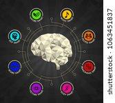 human brain polygonal geometric ... | Shutterstock .eps vector #1063451837