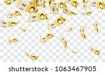 south korean won banknotes... | Shutterstock .eps vector #1063467905