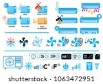 cooler or heater ac manual and...   Shutterstock .eps vector #1063472951
