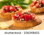 fresh homemade crispy italian... | Shutterstock . vector #106348601
