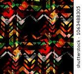 seamless pattern patchwork... | Shutterstock . vector #1063488305