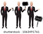 real estate agent in three... | Shutterstock .eps vector #1063491761
