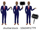 real estate agent in three... | Shutterstock .eps vector #1063491779