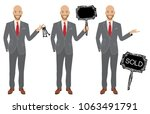 real estate agent in three... | Shutterstock .eps vector #1063491791