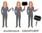 real estate agent in three... | Shutterstock .eps vector #1063491809