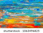 Abstract Art Background Hand...