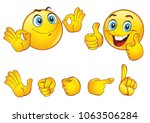 set of beautiful smiley faces... | Shutterstock .eps vector #1063506284