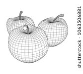 apple wireframe low poly mesh... | Shutterstock .eps vector #1063506881