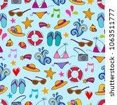 lovely vector seamless pattern... | Shutterstock .eps vector #1063511777