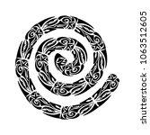 polynesian tattoo style.... | Shutterstock .eps vector #1063512605